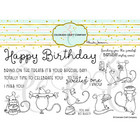 Colorado Craft Company - So Sweet Slimline-By Anita Jeram, Leimasetti