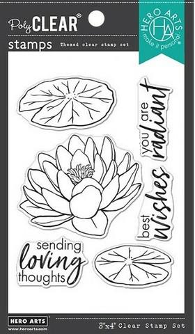 Hero Arts - Hero Florals Lotus, Leimasetti