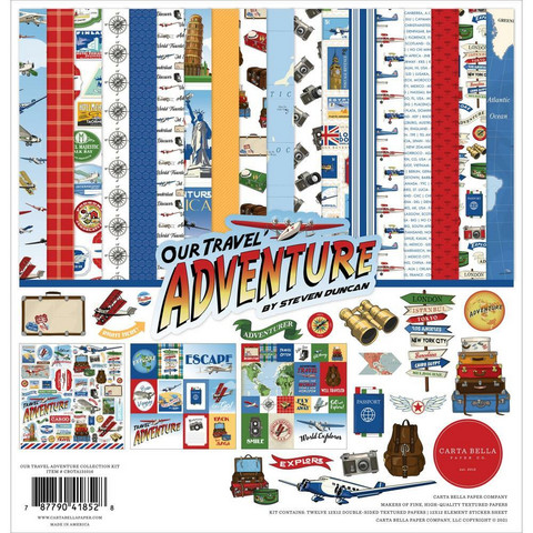 Carta Bella - Our Travel Adventure, Collection Kit 12