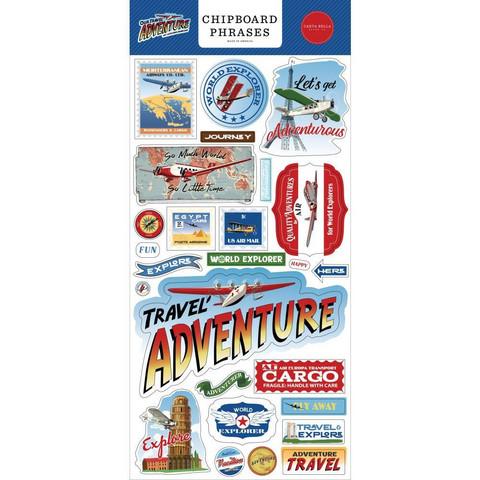 Carta Bella - Our Travel Adventure Chipboard 6