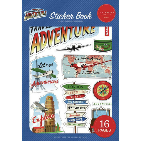 Carta Bella - Our Travel Adventure, Sticker Book, Tarrasetti