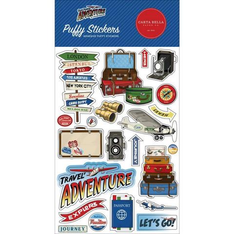 Carta Bella - Our Travel Adventure, Puffy Stickers