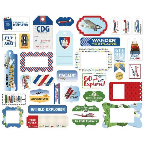 Carta Bella - Our Travel Adventure Frames & Tags, Leikekuvia, 33 kpl