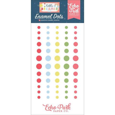 Echo Park - Little Dreamer Girl, Enamel Dots, 60 kpl