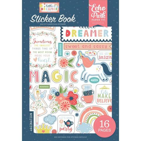 Echo Park - Little Dreamer Girl, Sticker Book, Tarrasetti