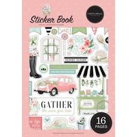 Carta Bella - Flower Garden, Sticker Book, Tarrasetti
