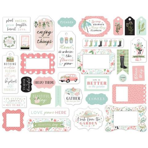 Carta Bella - Flower Garden Frames & Tags, Leikekuvia, 33 kpl