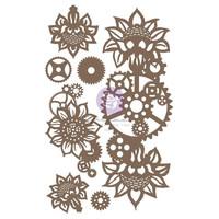 Prima Marketing - Finnabair Decorative Chipboard, Machine Floral Decors