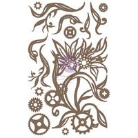 Prima Marketing - Finnabair Decorative Chipboard, Steampunk Blooms