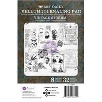 Prima Marketing - Art Daily Vellum Pad, Vintage Stories