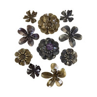 Prima Marketing - Mechanicals Metal Embellishments, Metal Blooms, 10 osaa