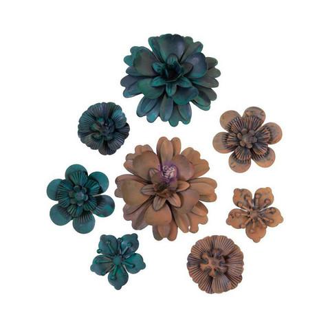 Prima Marketing - Mechanicals Metal Embellishments, Desert Flowers, 8 osaa
