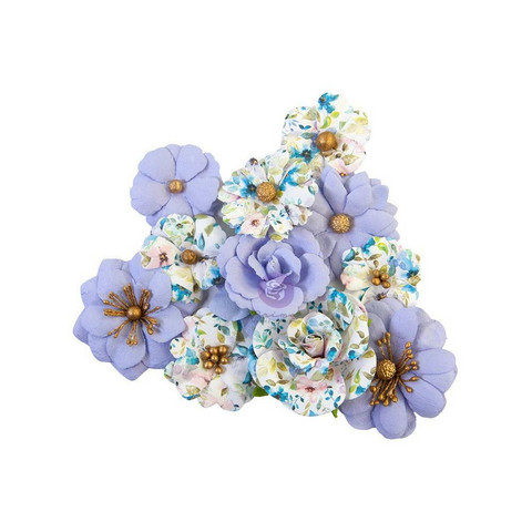 Prima Marketing - Watercolor Floral, Mulberry Flowers, Blank Canvas