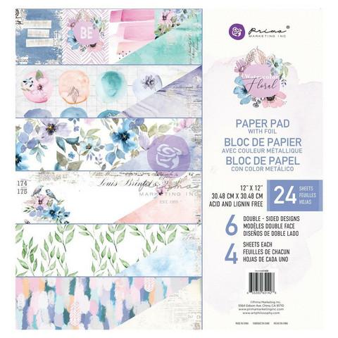 Prima Marketing - Watercolor Floral, Paperikko, 12
