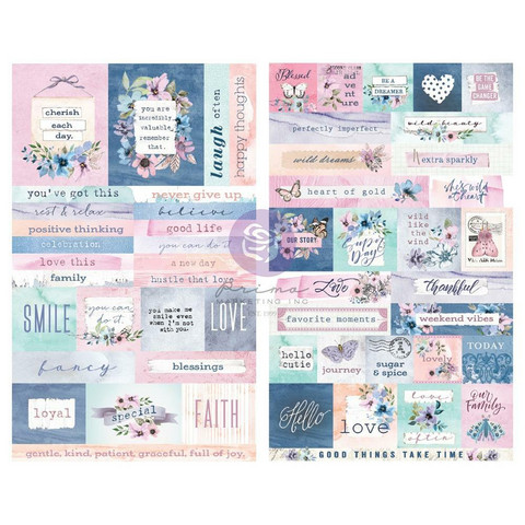 Prima Marketing - Watercolor Floral Stickers, 2 arkkia