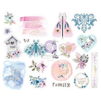 Prima Marketing - Watercolor Floral Chipboard Stickers, 20 osaa