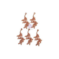 Prima Marketing - Watercolor Floral, Metal Charms, 5 osaa