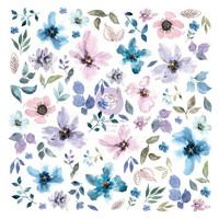 Prima Marketing - Watercolor Floral, Cardstock Ephemera, 77 osaa