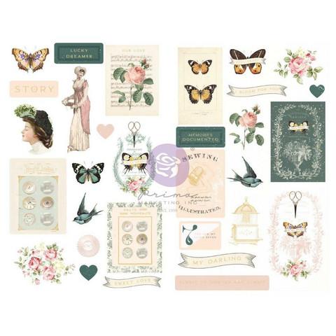 Prima Marketing - My Sweet By Frank Garcia Chipboard Stickers, 31 osaa