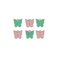 Prima Marketing - My Sweet By Frank Garcia, Enamel Charms, 6osaa, Butterfly
