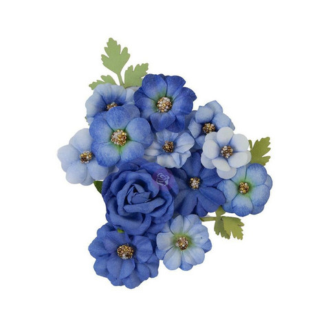 Prima Marketing - Nature Lover, Mulberry Flowers, Blue River
