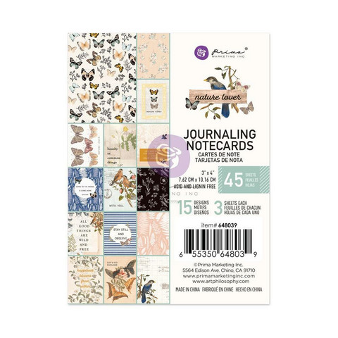 Prima Marketing - Nature Lover, Journaling Notecards, 3