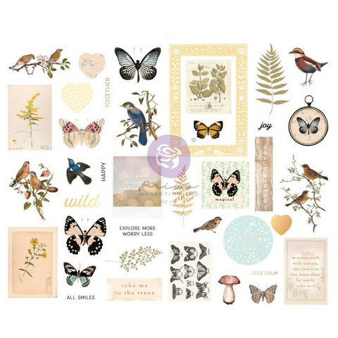 Prima Marketing - Nature Lover, Chipboard Stickers, 39 osaa