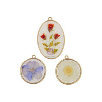 Prima Marketing - Nature Lover, Epoxy Charms, 3 osaa