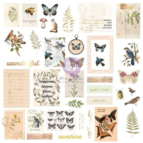 Prima Marketing - Nature Lover, Cardstock Ephemera, 38 osaa