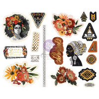 Prima Marketing - Diamond, Chipboard Stickers, 18 osaa