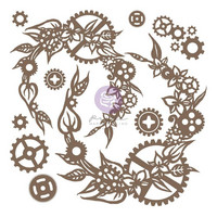 Prima Marketing - Finnabair Decorative Chipboard, Steampunk Wreath