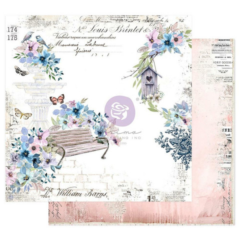 Prima Marketing - Watercolor Floral, Double-Sided Cardstock 12