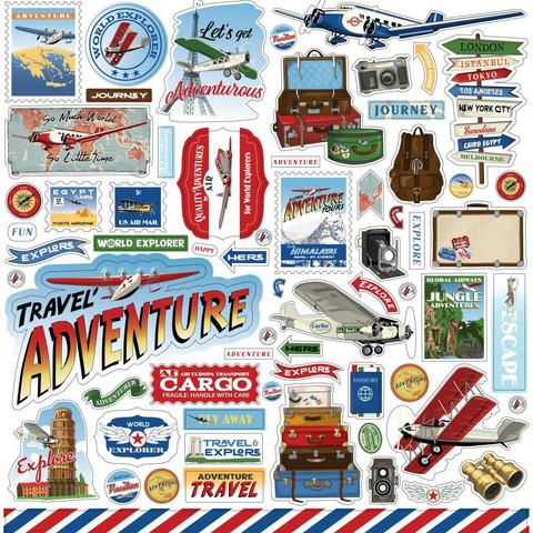 Carta Bella - Our Travel Adventure Element Sticker 12