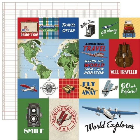 Carta Bella - Our Travel Adventure Double-Sided Cardstock 12