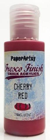 Paper Artsy - Fresco Finish, Akryylimaali, Cherry Red, 50ml