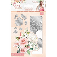 Crafter`s Companion - Sara Signature Collection Caring Thoughts, Stanssisetti, Floral Decoupage Set 1
