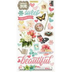 Simple Stories - Simple Vintage Cottage Fields Chipboard Stickers 6