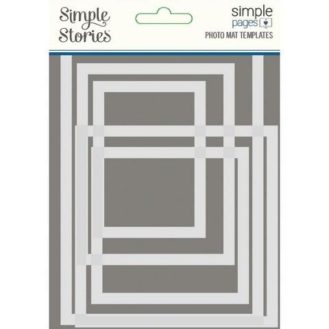 Simple Stories - Simple Pages Photo Mat Templates, Sapluunasetti