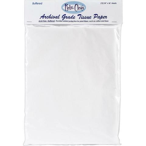 Retro Clean -  Archival Grade Tissue Paper, Buffered, 12arkkia