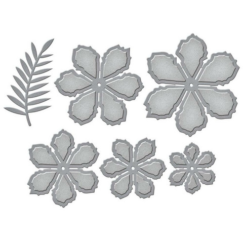 Spellbinders - Etched Dies, Stanssisetti, Grand Cinch And Go Flowers