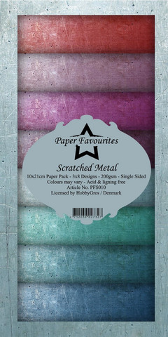 Paper Favourites - Scratched Metal Slim Paper Pack, Paperikko