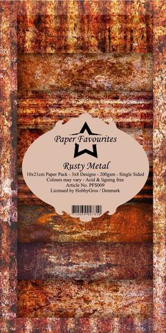 Paper Favourites - Rusty Metal Slim Paper Pack, Paperikko