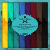 Paper Favourites - Ink Drops Dark 12