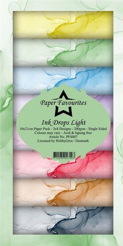 Paper Favourites - Ink Drops Light Slim Paper Pack, Paperikko