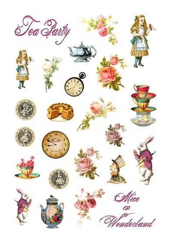 Memory Place - Alice's Tea Party, Leikekuvia, 24 osaa