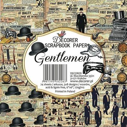 Decorer - Gentlemen, Paper Pack 6