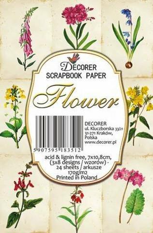 Decorer - Flower, Korttikuvia, 24 osaa