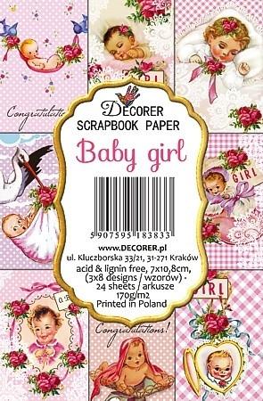 Decorer - Baby girl, Korttikuvia, 24 osaa