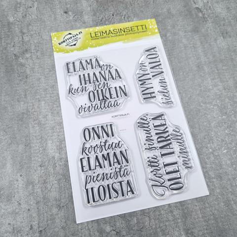 Korttipaja.fi - Elämäniloa, Leimasinsetti