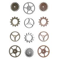 Tim Holtz - Idea-Ology Metal Sprocket Gears, 12 kpl